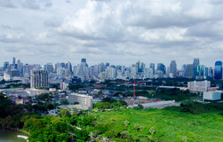 Vista della città di Bangkok Fotografie Stock