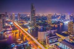 Vista della città di Bangkok da sopra, la Tailandia fotografia stock