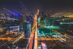 Vista della città di Bangkok da sopra, la Tailandia fotografie stock libere da diritti
