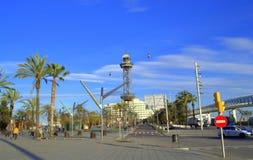 Vista della città di Barcellona Fotografie Stock Libere da Diritti