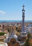 Vista della città di Barcellona da un'altezza Fotografia Stock Libera da Diritti