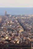 Vista della città di Barcellona, Spagna. Immagini Stock Libere da Diritti