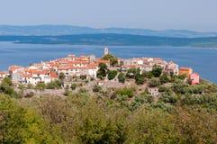 Vista della città di Beli nell'isola di Cres Fotografia Stock
