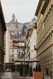 Vista della città di Bergamo di Citta Alta Immagini Stock Libere da Diritti