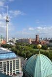 Vista della città di Berlino Fotografie Stock