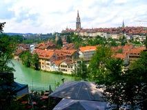 Vista della città di Berna Fotografia Stock Libera da Diritti