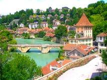 Vista della città di Berna Immagine Stock