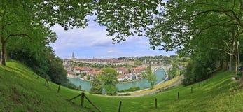 Vista della città di Berna dalla collina Immagine Stock Libera da Diritti