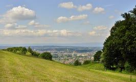 Vista della città di Berna dalla collina di Gurten switzerland Immagine Stock Libera da Diritti