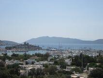 Vista della città di Bodrum immagini stock