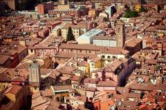 Vista della città di Bologna immagine stock