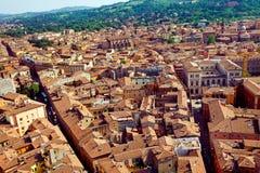 Vista della città di Bologna immagini stock