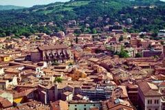 Vista della città di Bologna fotografia stock