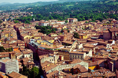 Vista della città di Bologna immagine stock libera da diritti
