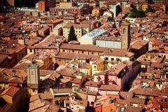 Vista della città di Bologna fotografia stock libera da diritti