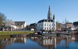 Vista della città di Breda (Paesi Bassi) fotografie stock libere da diritti