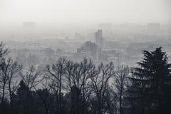 Vista della città di Brescia Fotografia Stock