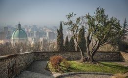 Vista della città di Brescia Fotografia Stock Libera da Diritti