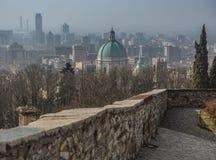 Vista della città di Brescia Fotografie Stock