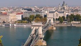 Vista della città di Budapest stock footage