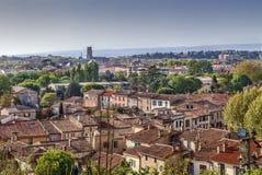 Vista della città di Carcassonne, Francia fotografia stock