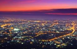 Vista della città di Chiangmai Immagini Stock