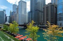 Vista della città di Chicago Immagine Stock