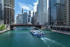 Vista della città di Chicago Fotografia Stock Libera da Diritti