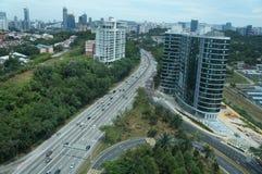Vista della città di chilolitro Immagine Stock
