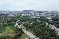 Vista della città di chilolitro Fotografia Stock