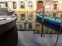 Vista della città di Chioggia in Italia Fotografia Stock Libera da Diritti
