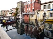 Vista della città di Chioggia in Italia Immagini Stock