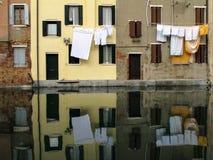 Vista della città di Chioggia in Italia Fotografie Stock