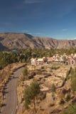 Vista della città di Chivay nel Perù Fotografia Stock