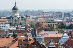 Vista della città di Cluj Napoca Fotografia Stock