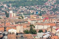Vista della città di Cluj Napoca Fotografie Stock