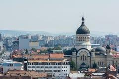 Vista della città di Cluj Napoca Fotografia Stock Libera da Diritti