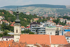Vista della città di Cluj Napoca Fotografie Stock Libere da Diritti