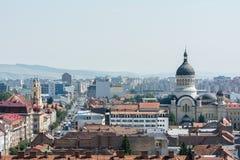 Vista della città di Cluj Napoca Immagini Stock