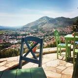 Vista della città di Crkvina immagini stock libere da diritti