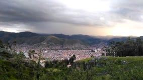 Vista della città di Cuzco, Perù, 02/07/2019 fotografie stock