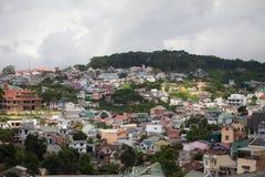 Vista della città di Dalat (provincia di Lam Dong, regione degli altopiani centrali Fotografie Stock
