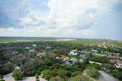 Vista della città di Daytona Beach Immagini Stock Libere da Diritti