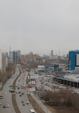 Vista della città di Ekaterinburg fotografia stock libera da diritti