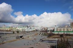 Vista della città di Ekaterinburg immagine stock