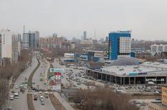 Vista della città di Ekaterinburg fotografie stock