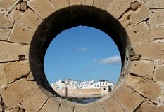 Vista della città di Essaouira nel Marocco Immagini Stock Libere da Diritti