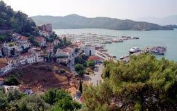 Vista della città di Fethiye Fotografia Stock