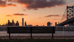 Vista della città di Filadelfia fotografie stock