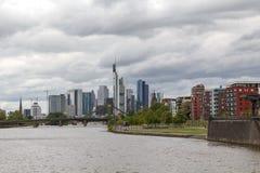 Vista della città di Francoforte Fotografie Stock Libere da Diritti